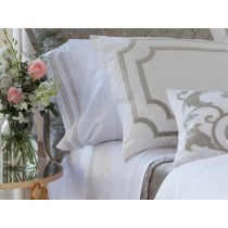 Soho King 300TC White/Oyster Luxury Bedding Sheet Set