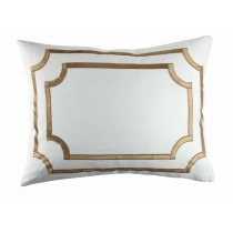 SOHO STANDARD PILLOW / WHITE LINEN / STRAW VELVET 20X26