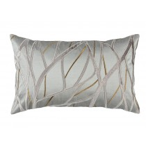 TWIG LG RECTANGLE PILLOW PEWTER / ANTIQUE GOLD / PLATINUM 18X30