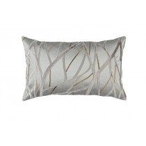 TWIG SMALL RECTANGLE PILLOW PEWTER / ANTIQUE GOLD / PLATINUM