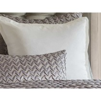 ULTRA PILLOW PEWTER S&S/PEWTER RIBBON 18X30