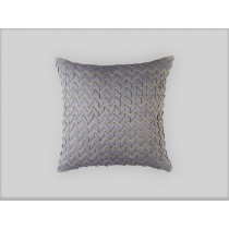 ULTRA PILLOW PEWTER S&S/PEWTER RIBBON 24X24
