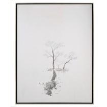 """Zhu Yonglong's Triad Painting  49 x 64 x 3"""""""