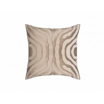 ZEBRA SQ. PILLOW / FAWN VELVET / WHITE BEADS 24X24