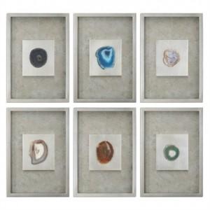 Agate Stone Shadow Bxs, Set/6