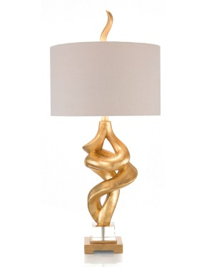 "All Twisted Hand-Gilded Sculpture Accent Lamp  36"" H"