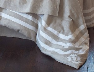 Angie King Duvet Natural/White Linen Luxury Bedding