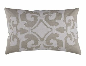 ANGIE SM. RECT. PILLOW / NATURAL LINEN / WHITE LINEN 14X22
