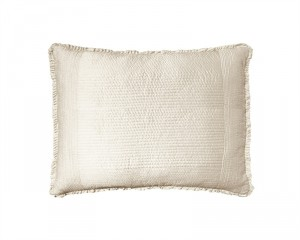 BATTERSEA STANDARD PILLOW / IVORY S&S 20X26