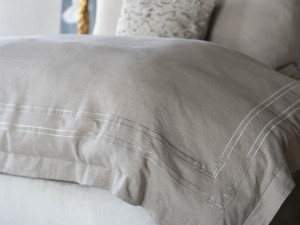 Casablanca King Duvet - Stone / Stone Linen Luxury Bedding