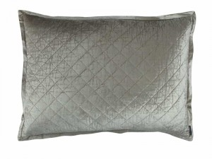 CHLOE LUXE EUROPEAN PILLOW / ICE SILVER VELVET 27X36