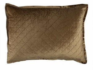 CHLOE LUXE EUROPEAN PILLOW / STRAW VELVET 27X36