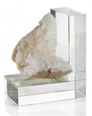 Crystal Quartz Bookend-Left