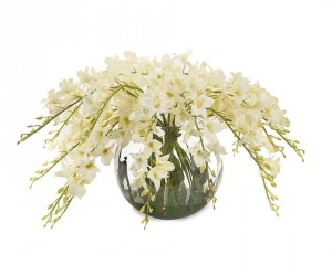 Enchanting Dendrobium Orchids in Faux Water