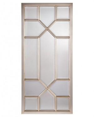 Don't-You-Fret Rectangular, Silver-Leaf Beveled Oversized Mirror