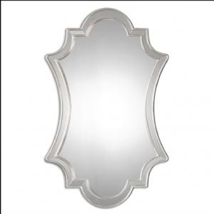 Elara Polished Edge Decorative Mirror in Silver Frame