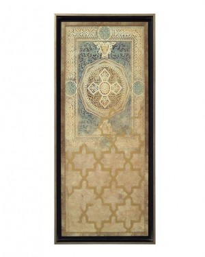 Embellished Tapestry II in Rich Blues & Gold