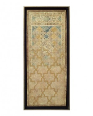 Embellished Tapestry IV in Rich Blues & Gold
