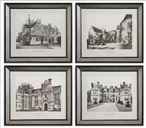 English Cottage Wall Art - Set/4