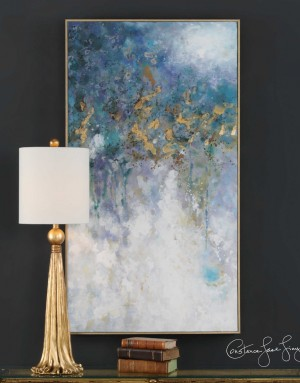 Floating Hand Painted Art on Canvas