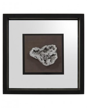 Geode's Silver Crystal II Shadow Box