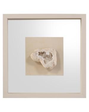 Geode's White Crystal II Shadow Box
