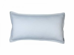 GIA KING PILLOW IVORY COTTON & SILK 20X36