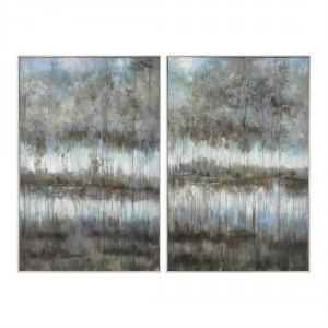Gray Reflections Wall Art, Set/2