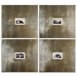 Historical Buildings Wall Art I, II, III, IV, Set/4