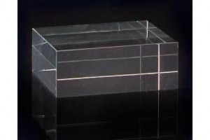 "2 x 5 x 4"" Small Square Optical Glass Stand"
