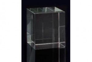 "6 x 5.25 x 5.25"" Lg Square Optical Glass Stand"