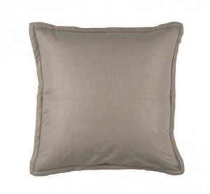 LAURIE EURO PILLOW SOLID STONE BASKETWEAVE 26X26