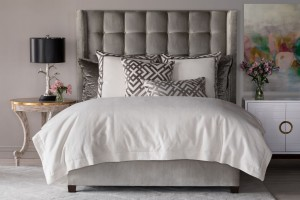 Laurie King Duvet Luxury Bedding Made with Ivory Basketweave. Duvet Insert Not Included.