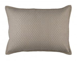 "LAURIE 1"" DIAMOND QUILTED LUXURY EURO PILLOW STONE BASKETWEAVE 27X36"