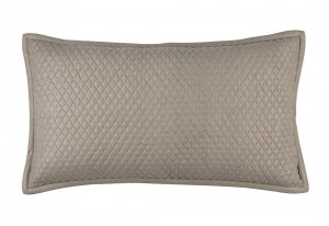 "LAURIE 1"" DIAMOND QUILTED KING PILLOW STONE BASKETWEAVE 20X36"