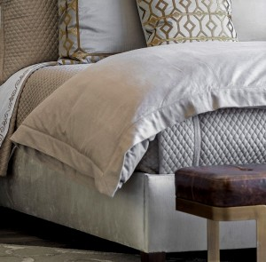 LAURIE QUEEN DUVET SOLID STONE BASKETWEAVE 96X98