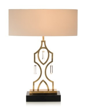 "Nauajo Honey Brass Table Lamp 31"" H"