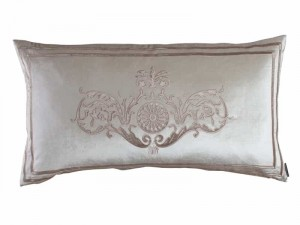 PARIS KING PILLOW / IVORY VELVET / CHAMPAGNE VELVET 20X36