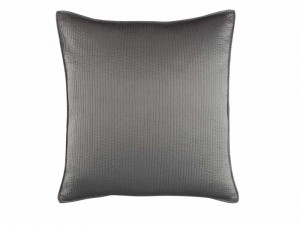RETRO EUROPEAN PILLOW / PEWTER S&S 26X26