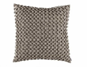 RIBBON SQ. PILLOW / SILVER S&S 20X20