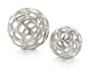 Silver Balls with Holes, Set/2