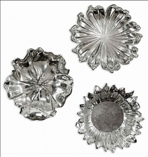 Silver Flowers, Set/3
