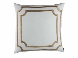 SOHO EUROPEAN PILLOW / WHITE LINEN / STRAW VELVET 26X26