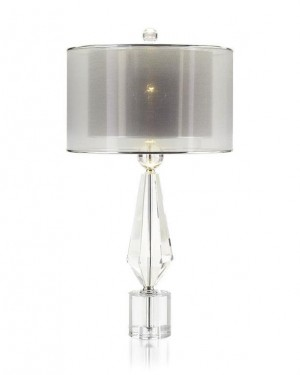 Sophisticated Alabaster & Coffee Bronze Table Lamp