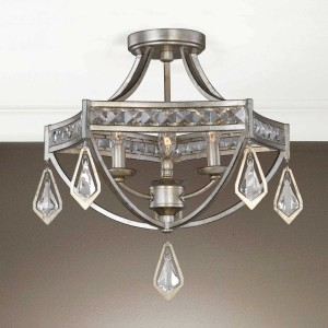 Tamworth Three-Light Semi Flush Mount Fixture