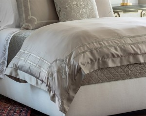 VENDOME TAUPE or IVORY VELVET BEDDING COLLECTION (King or Queen) --- See Individual Pieces for Pricing