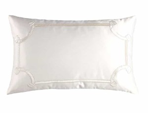 VENDOME KING PILLOW / IVORY S&S / IVORY VELVET 20X36