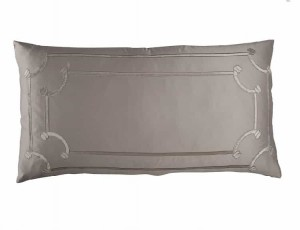 VENDOME KING PILLOW / TAUPE S&S / FAWN VELVET 20X36