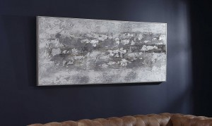 Weathered Stone Hand-Painted Canvas