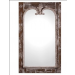 Belvedere Decorative Mirror in Reclaimed Pine with Aged White Distressed Finished Frame